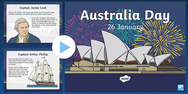 Australia Day Information PowerPoint - australia, information