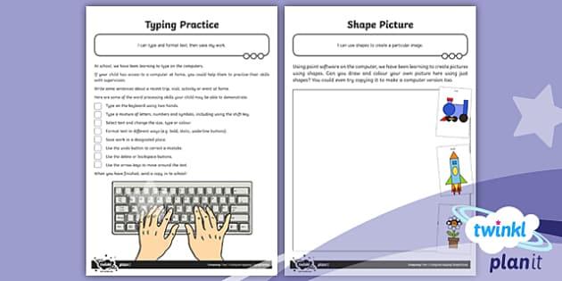 PlanIt - Computing Year 1 - Using and Applying Home Learning Tasks - PlanIt, computing, kS1, key stage 1, Year 1, Year one, Y1, using, applying, homework, home task, rev