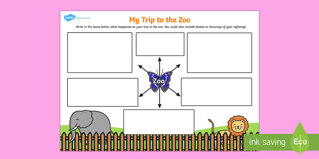 My Trip to the Zoo Worksheet - my trip, zoo, worksheet, trip