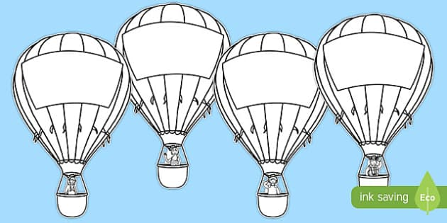 Hot Air Balloon Labels - hot air balloon, labels, display, transport