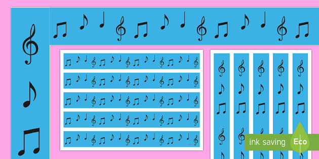 Music Notes Display Borders