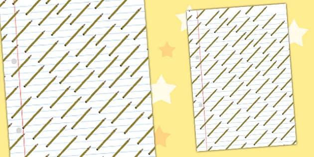 Pencil Themed A4 Sheet - a4, sheet, pencil, themed, pencils