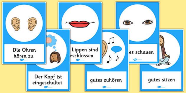 Good Listening Posters German - german, good listening, posters, good, listening