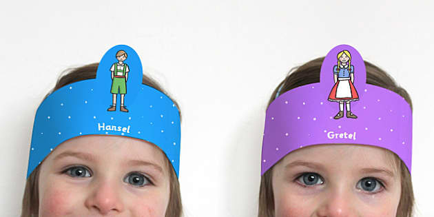 Hansel and Gretel Role Play Headbands - story, roleplay, stories