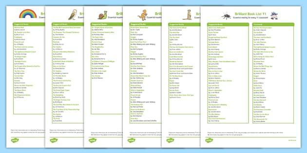 EYFS/KS1 Book List Pack