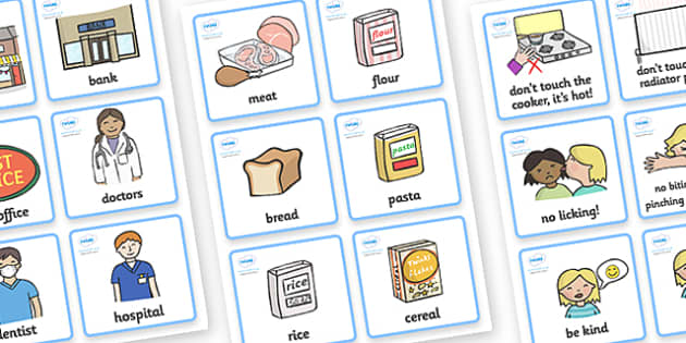 SEN Communication Cards Pack (Girl) - communication cards, education, home school, child development, children activities, free, kids, special needs, special education, speech and language