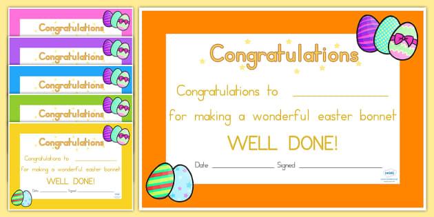 Easter Certificates - easter, certificate, award, RE, religion