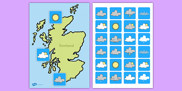 Scotland Weather Forecasting Role Play Pack - scotland, weather forecasting, role play, pack