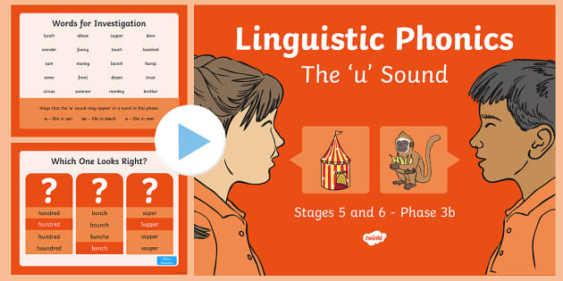 Northern Ireland Linguistic Phonics Stage 5 and 6 Phase 3b, 'u' Sound PowerPoint
