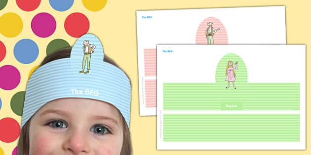 Role Play Headbands to Support Teaching on The BFG - the bfg, role play, headband, role-play, bfg