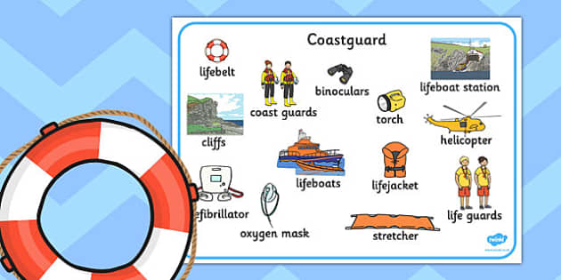 Coastguard Word Mat - coastguard, word mat, word, mat, coast