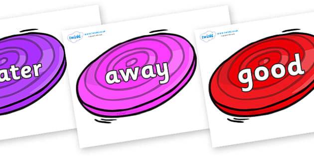 Next 200 Common Words on Frisbees - Next 200 Common Words on  - DfES Letters and Sounds, Letters and Sounds, Letters and sounds words, Common words, 200 common words