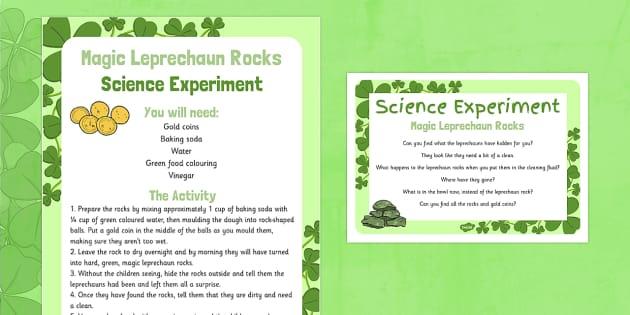 Magic Leprechaun Rocks Science Experiment - St Patricks Day, EYFS, magic