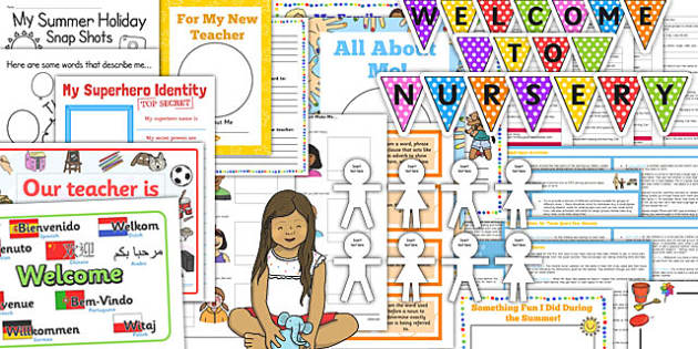 EYFS Back to School or Nursery Resource Pack - eyfs, back to school, pack