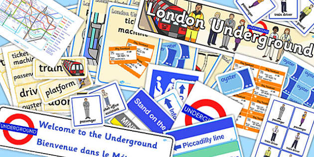 London Underground Role Play Pack - transport, travel, roleplay