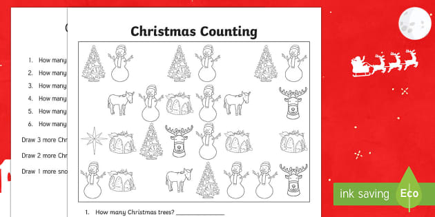 Christmas Counting Activity Sheet