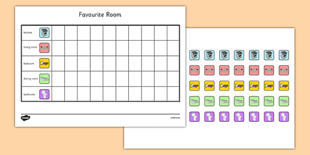 Houses and Homes Favourite Room Pictogram Survey - houses and homes, house, home, favourite room, pictogram, survey