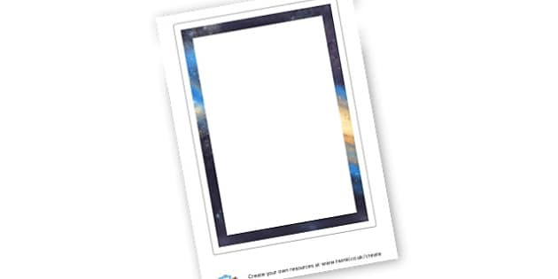 Space Border - Space Worksheets Primary Resources, Space, planets, moon, stars