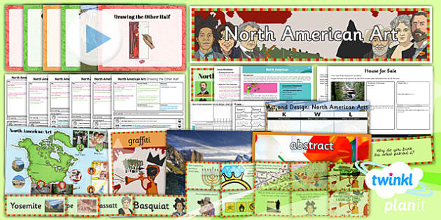 PlanIt - Art UKS2 - North American Art Unit Pack - planit, art, unit