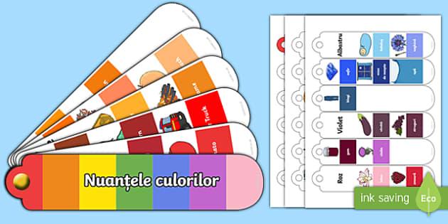 Nuanțele culorilor într-un evantai