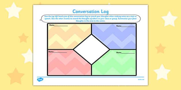 Conversation Log - conversation, log, record, thoughts, box, class