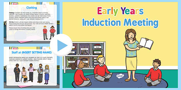 EYFS Editable Induction Meeting for New Starters PowerPoint