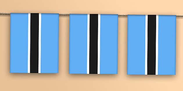 Botswana Flag Bunting - botswana flag, botswana, flag, display bunting, display, bunting