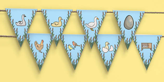 Ugly Duckling Bunting - bunting, ugly duckling, display bunting