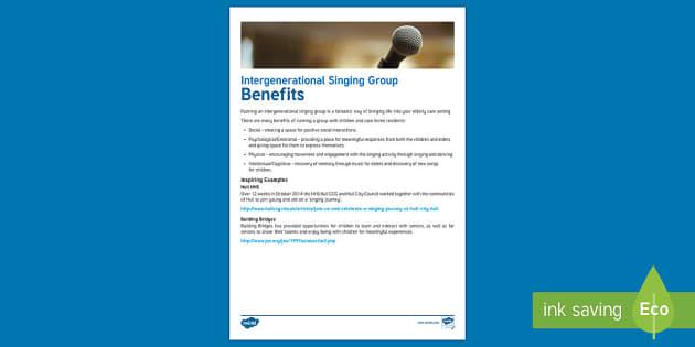 Intergenerational Singing Adult Guidance - Singing, Intergenerational, Tips, Elders, Children, Activity Co-ordinators, Care Homes, Elderly Care