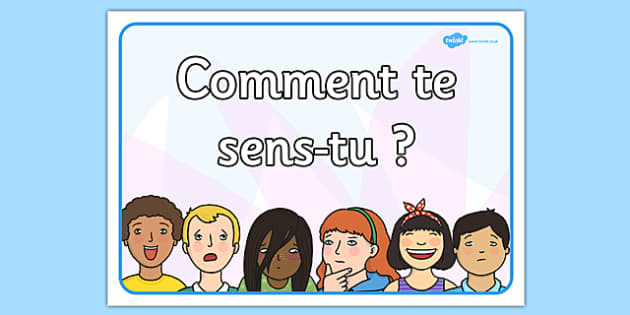 How Are You Feeling A4 Sign French - french, france, francais, how are you feeling, sign