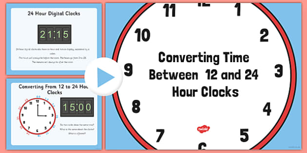 12 and 24 Hour Clock Conversion - 12, 24, hour, clock