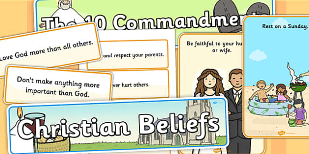 The Ten Commandments Display Pack - religion, christian, displays