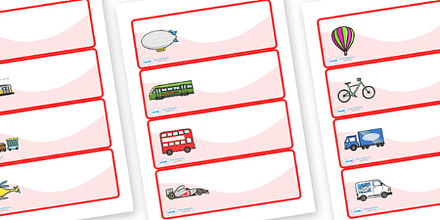 Editable Drawer - Peg - Name Labels (Transport) - Transport themed Label Templates, transport, Resource Labels, Name Labels, Editable Labels, Drawer Labels, Coat Peg Labels, Peg Label, KS1 Labels, Foundation Labels, Foundation Stage Labels, Teaching