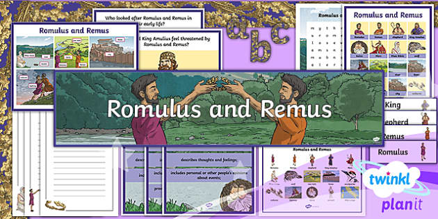 PlanIt Y4 Myths and Legends: Romulus and Remus Additional Resources - Romulus, Remus, literacy, Y4, Year 4, English, planning, Roman, Ancient Rome, mythology,  web, topic
