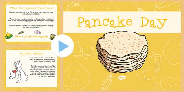 Pancake Day Assembly Presentation - Pancake Day, Shrove Tuesday, Assembly, presentation