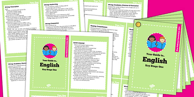 2014 Curriculum Cards KS1 English - new curriculum, literacy
