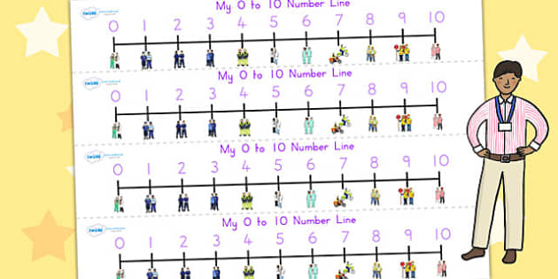 People Who Help Us Number Line 0 10 - count, counting, numeracy