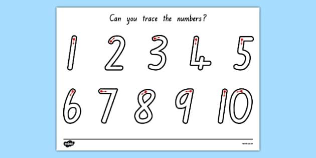 Number Formation 1-10 Worksheet NZ - nz, new zealand, worksheets, numbers, practice