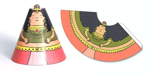 Diwali Cone Character Sita - Diwali, Cone Character, Sita, Story