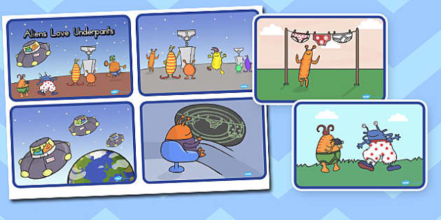 Story Sequencing 4 per A4 to Support Teaching on Aliens Love Underpants - australia