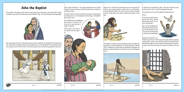 John the Baptist Story Print-Out