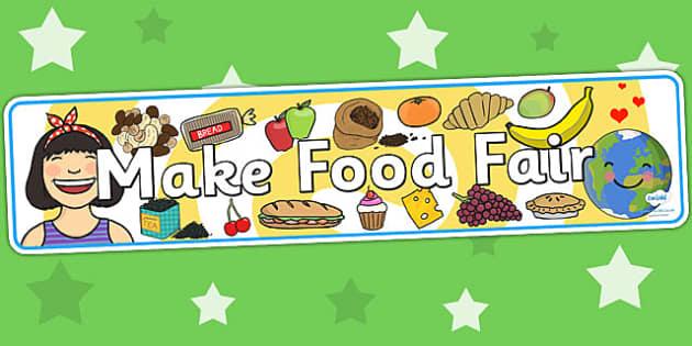 Make Food Fair Display Banner - fairtrade, fair trade, food, fair