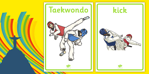 The Olympics Taekwondo Display Posters - Taekwondo, Olympics, Olympic Games, sports, Olympic, London, 2012, display, banner, poster, sign, activity, Olympic torch, events, flag, countries, medal, Olympic Rings, mascots, flame, compete