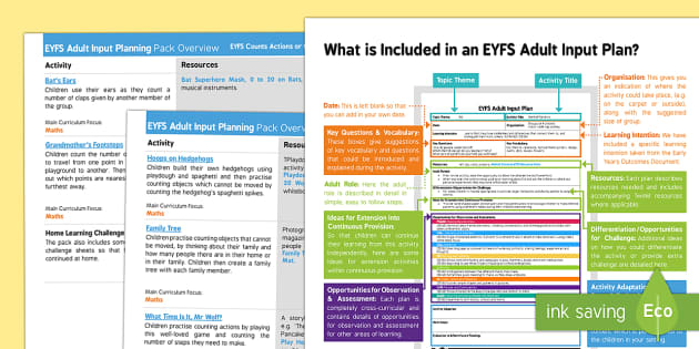 EYFS Counts Actions or Objects which Cannot Be Moved Adult Input Planning and Resource Pack Overview - Counts actions or objects which cannot be moved, counting, eyfs, maths, number, lesson plans