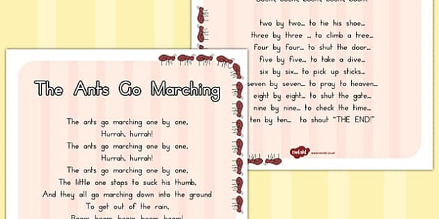 The Ants go Marching Display Poster - australia, display, poster