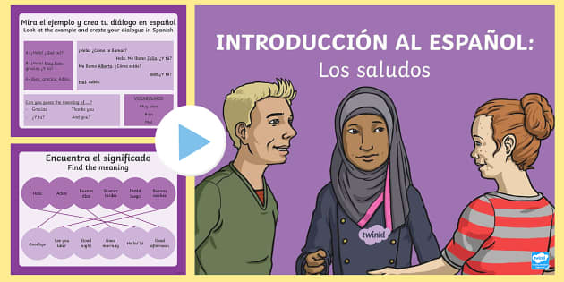Introduction and Greetings in Spanish PowerPoint - Spanish KS2, greetings, saludos, how are you, hello, hola, qué tal