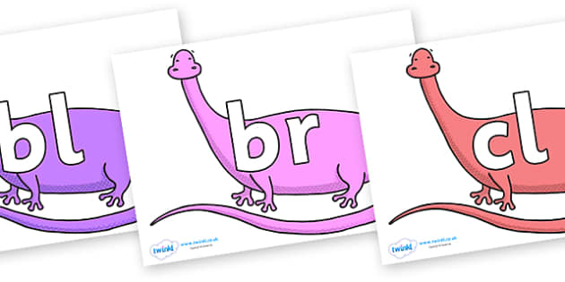 Initial Letter Blends on Anchisaurus - Initial Letters, initial letter, letter blend, letter blends, consonant, consonants, digraph, trigraph, literacy, alphabet, letters, foundation stage literacy