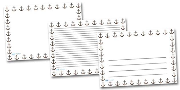 Anchor Landscape Page Borders- Landscape Page Borders - Page border, border, writing template, writing aid, writing frame, a4 border, template, templates, landscape