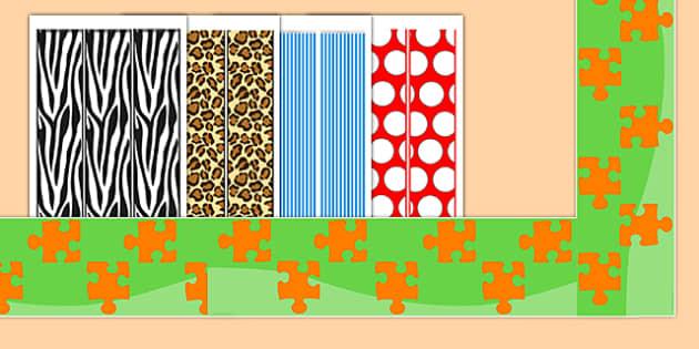 General Patterned Display Borders - patterns, border, display