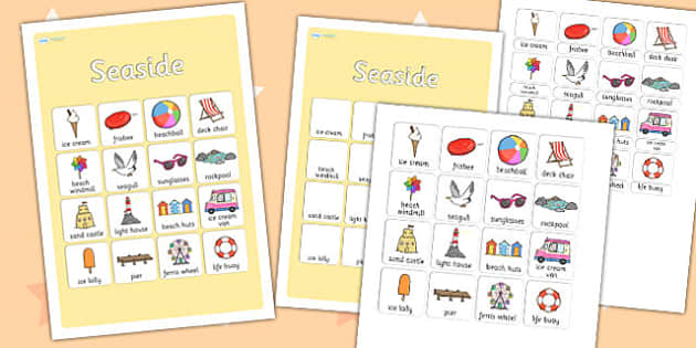 Seaside Vocabulary Poster - sea side, seaside, vocab poster